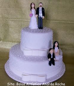 Bolo de Casamento Familia Feliz
