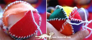 Moldes e enfeites de feltro para o natal