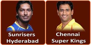 चैन्नई सुपर किंग्स बनाम सनराईज़र्स हैदराबाद 25 अप्रैल 2013 को है।