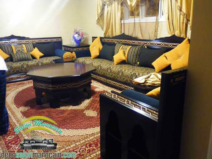 salon marocain moderne 2015. Black Bedroom Furniture Sets. Home Design Ideas