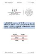 Acuerdo 12/10/17 Plan y Programas de Estudio para la EB