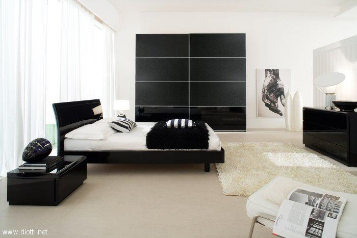 Fotos de dormitorios en blanco y negro dormitorios con for Muebles de habitacion en blanco