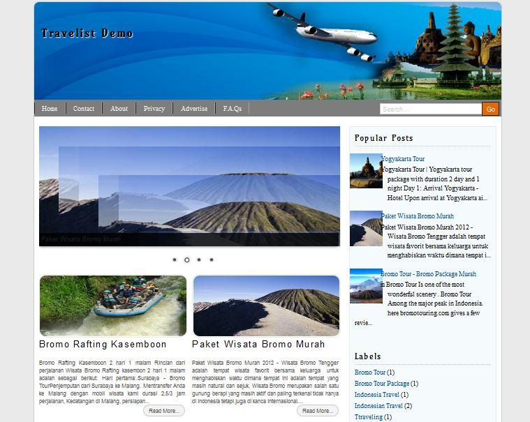 Travelist Blogger Template