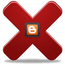 how to delete blog from blogspot
