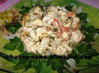 Нежная рыба с сыром и овощами