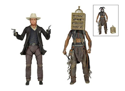 NECA Lone Ranger Series 2 - Maskless Lone Ranger - Tonto with Bird Cage