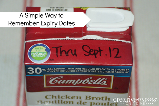 A Simple Way to Remember Expiry Dates  - Write with a Sharpie