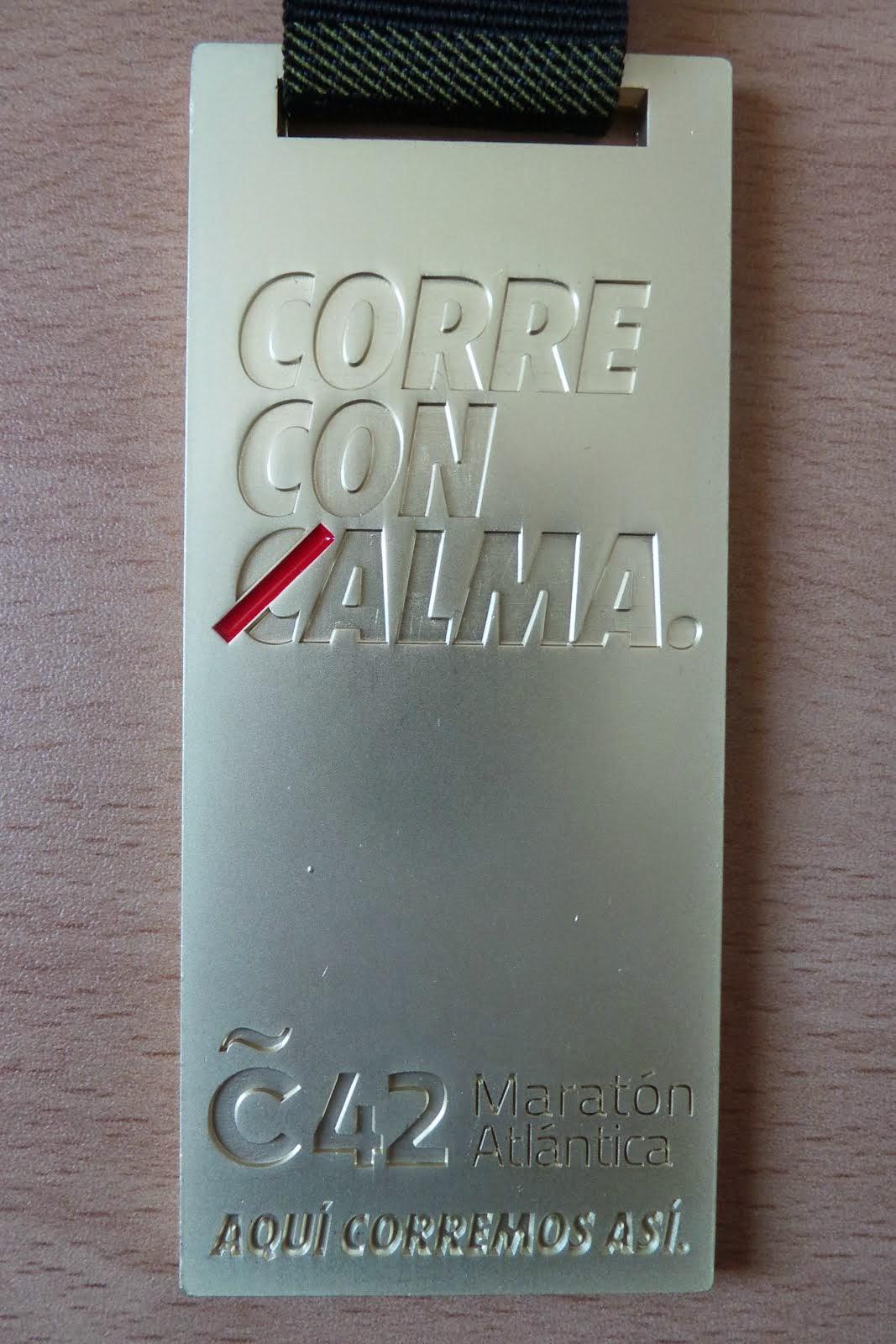 Maratón A Coruña 2015: 3.22.16´´
