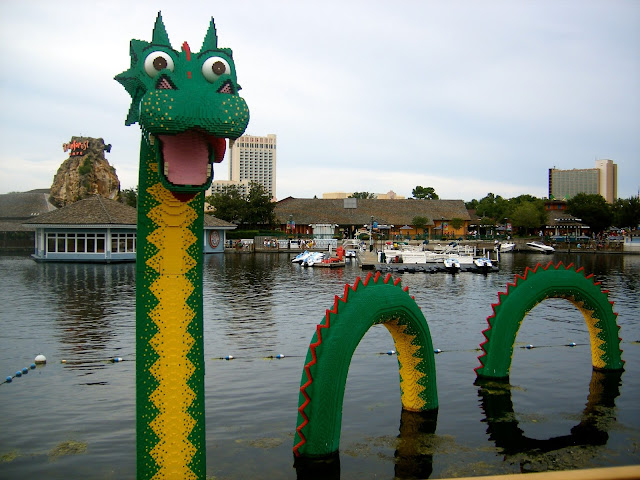 Lego Loch Ness Monster in Downtown Disney, Disney World, Florida