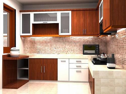Kitchen set minimalis jual kitchen set murah for Biaya membuat kitchen set