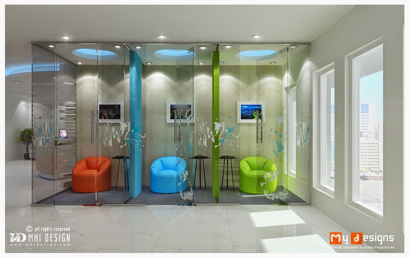 Dubai top interior design companies interior designer blog for One room office interior design