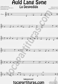 Partitura de La Despedida para Oboe Popular Italia Auld Lang Syn Sheet Music for Oboe Music Scores