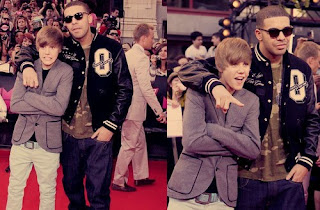 Justin bieber with celebrity in the red carpet