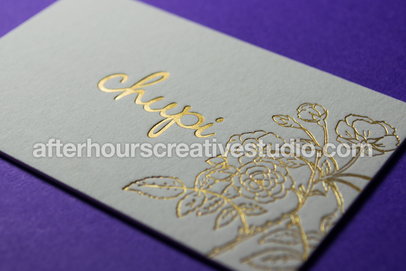 Colorplan Business Cards: Rainbow Gold Foil Business Card