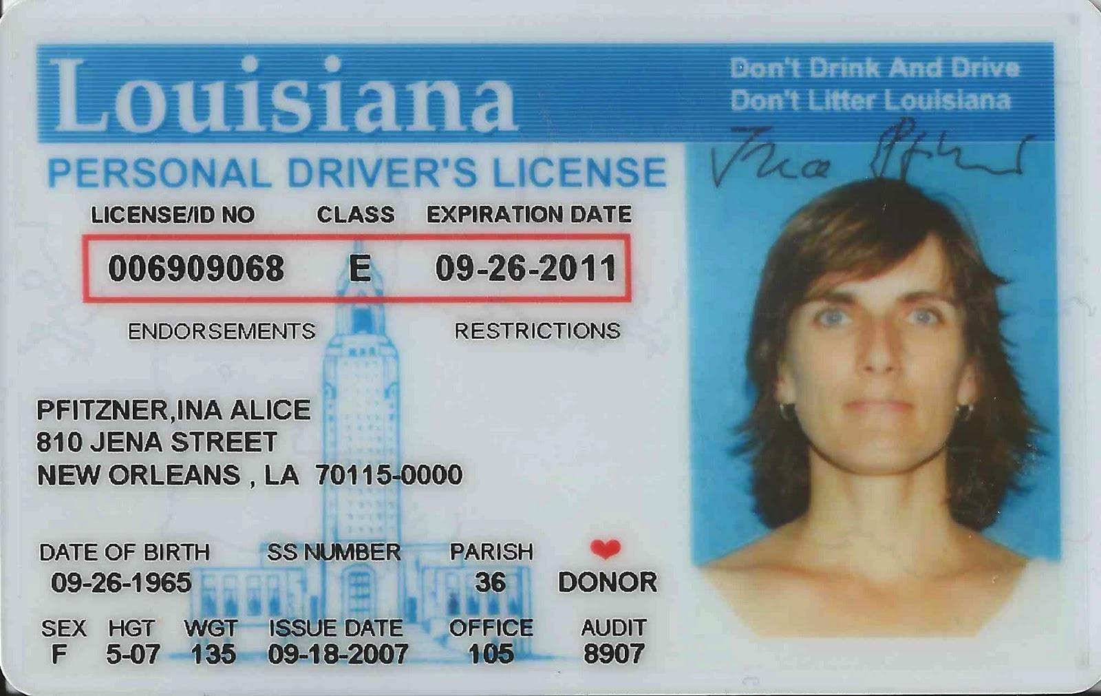 Louisiana Drivers License | galleryhip.com - The Hippest Pics