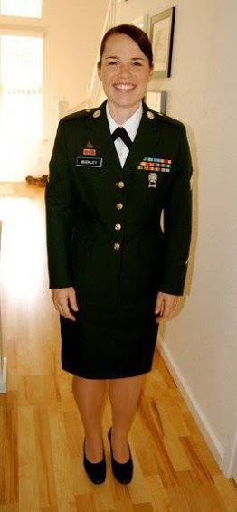 Shawna While in the Army