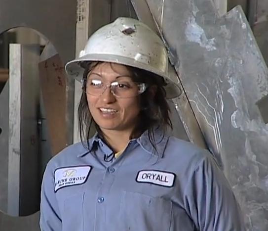 Women welders like Annie are much in demand