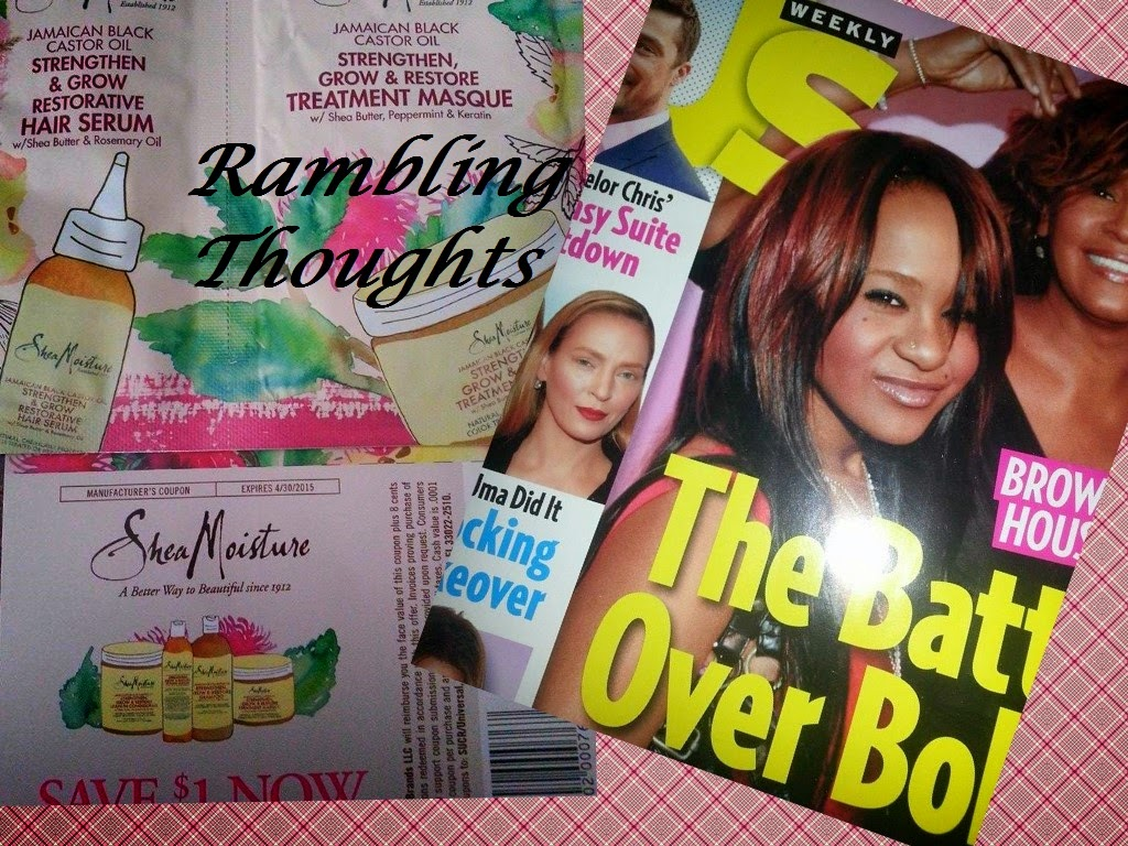 Rambling Thoughts' mail freebies: Us Weekly Magazine and Shea Moisture Samples