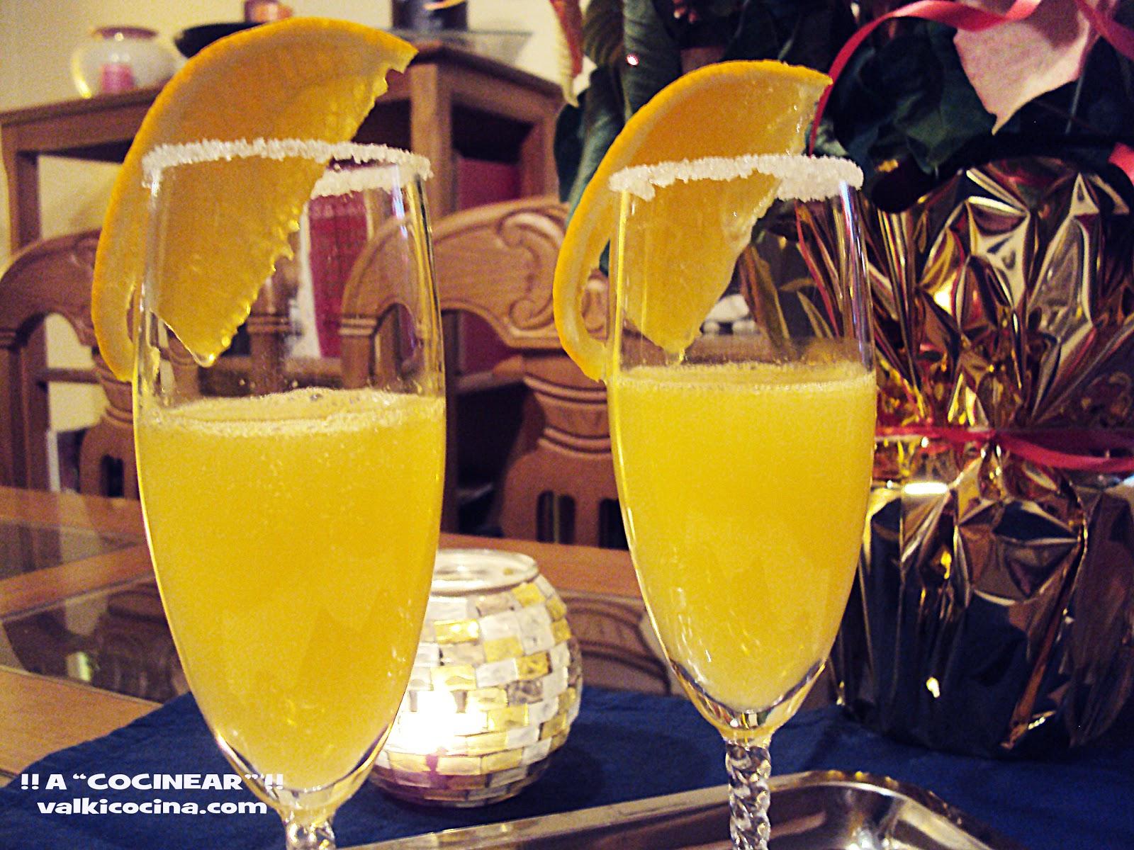C ctel de champ n o cava con zumo de naranja cocktail for Cocktail mimosa