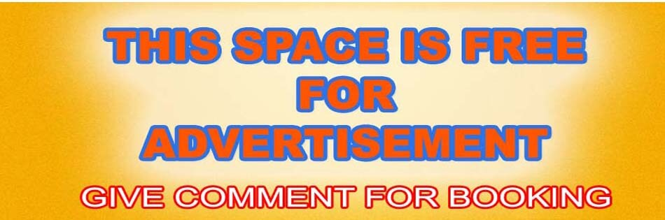 This space is free for Advertisements. More than 1000 unique visitors per day. If you are interested, give comment to contact you.