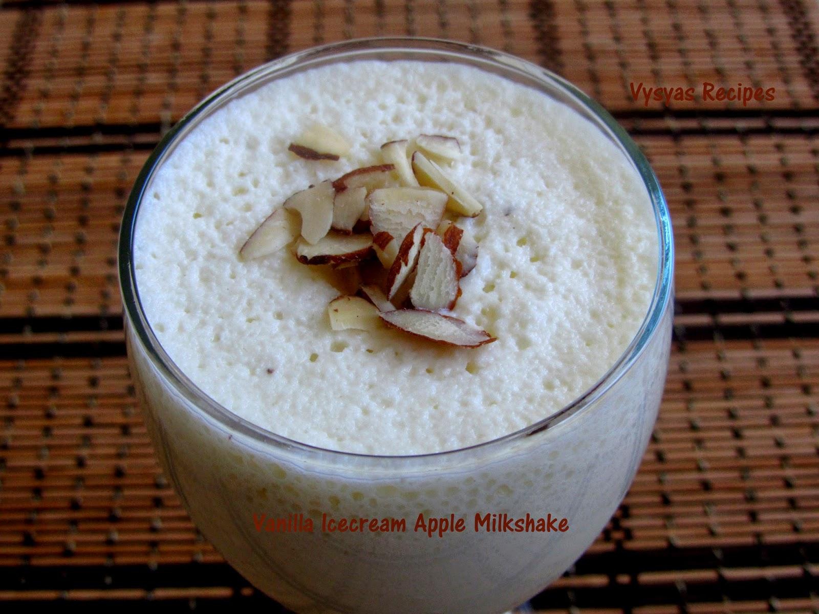 apple milk shake - with vanilla flavoured - vanilla icecream apple milkshake