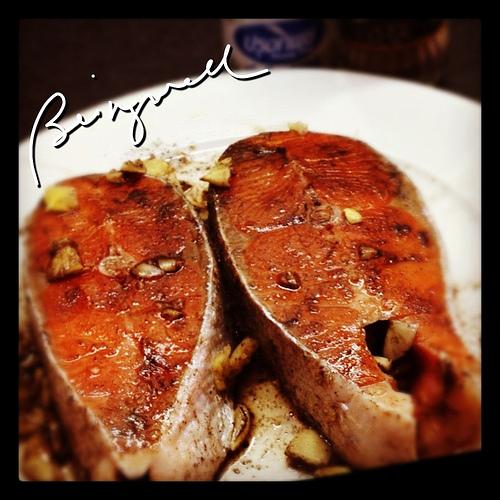 Cooking Teriyaki Salmon with Dill