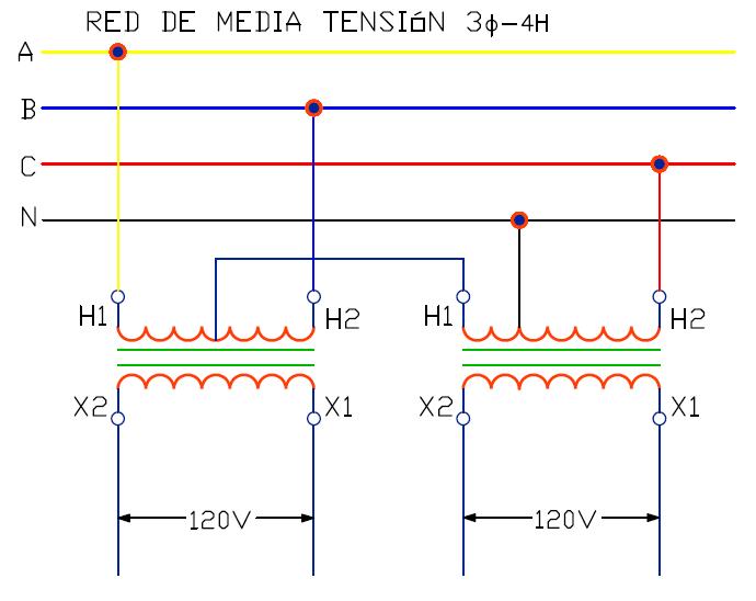 Conexión Scott: conversión de red trifásica a monofásica