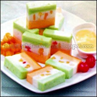 Resep Kue | Puding Lapis Buah