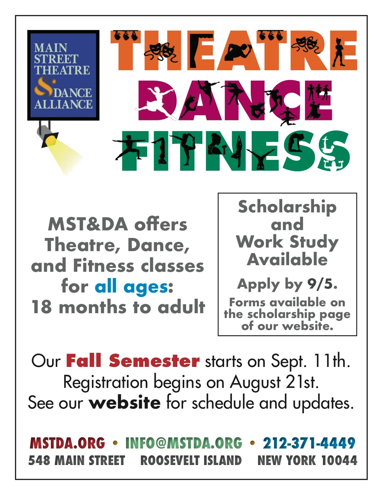 Register Now For Main Street Theatre & Dance Alliance Fall Classes