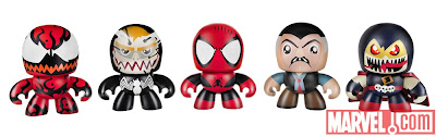 New York Comic-Con 2011 Exclusive Spider-Man Maximum Carnage Marvel Mini Mighty Muggs Box Set – Carnage, Venom, Spider-Man, J. Jonah Jameson & Demogoblin