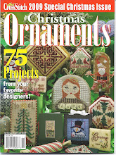 "The Sunflower Seed's ""Celtic Christmas"" Ornament featured on the cover of ""2009 Just Cross Stitch"""
