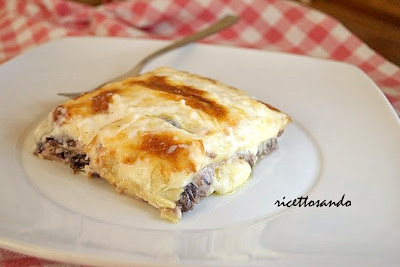 Pasticcio di radicchio e provola, lasagne vegetariane ricetta primi