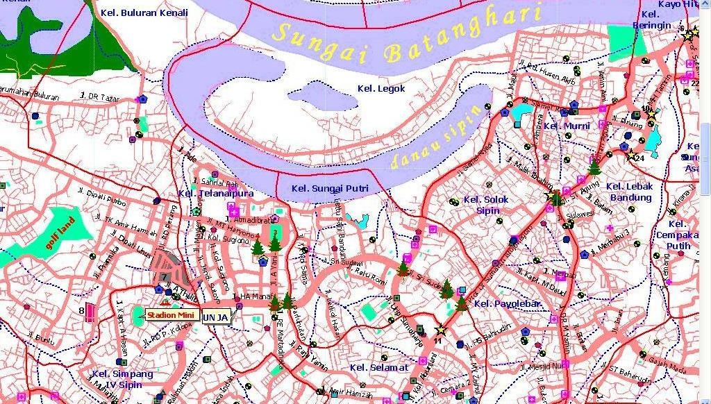 Peta Kota: Peta Kota Jambi
