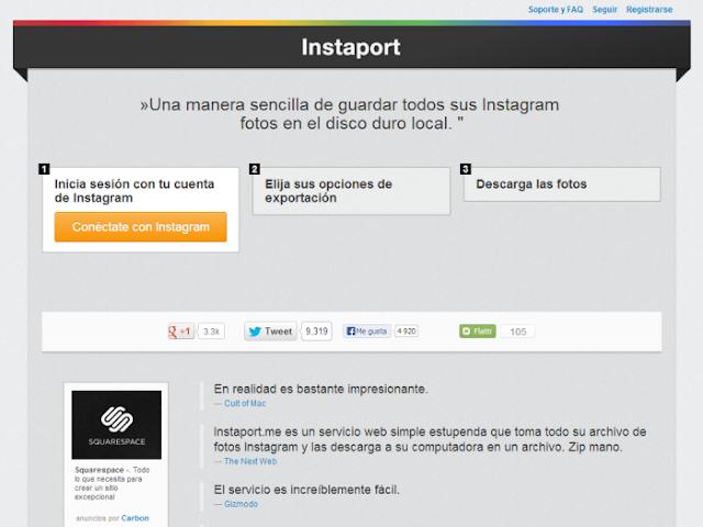 Instaport (Descargar fotos de Instagram)