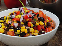 Salada de Feijão Preto e Milho (vegana)