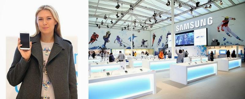 Maria Sharapova unveils Samsung Galaxy Studio Opening in Sochi Olympic Park