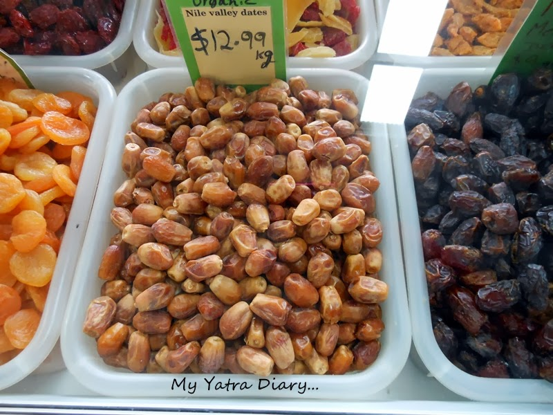 Dates at Queen Victoria Market, Melbourne