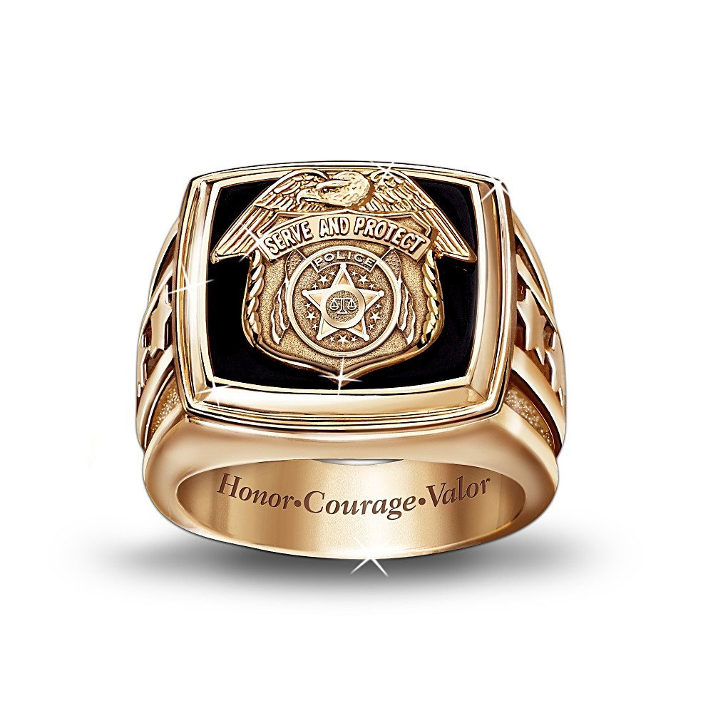 Design Wedding Rings Engagement Rings Gallery Police Officer Gold Ring By The Bradford Exchange