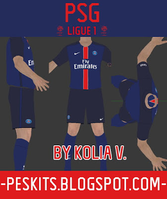 PES 2015 PSG 15-16 Home Kits by Kolia V