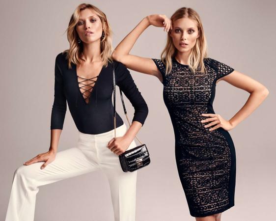 vestido encaje, body y pantalón H&M