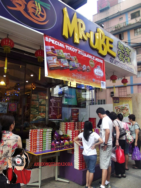 Mr. Ube Rice and  Noodle House in Ongpin Street, Binondo
