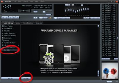 Configuracion Winamp para Android