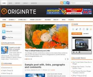 Originate Blogger Template