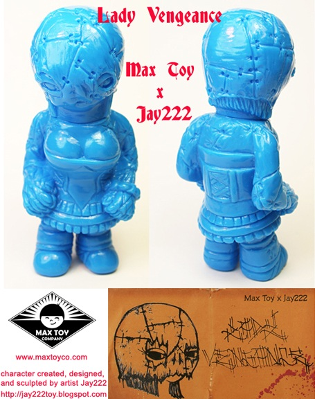Jay222 x Max Toy Co Unpainted Blue Lady Vengeance Vinyl Figure