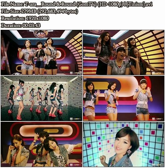 Download MV T-ara (티아라) – Round and Round (빙글빙글) (GomTV Full HD 1080p)