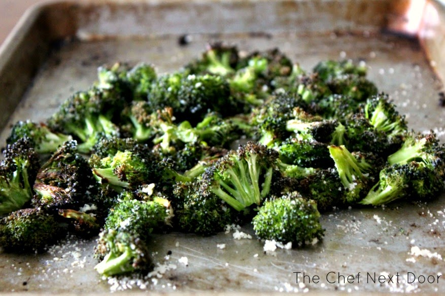 Simple Roasted Broccoli with Parmesan | The Chef Next Door