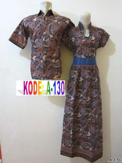 dress panjang batik modern