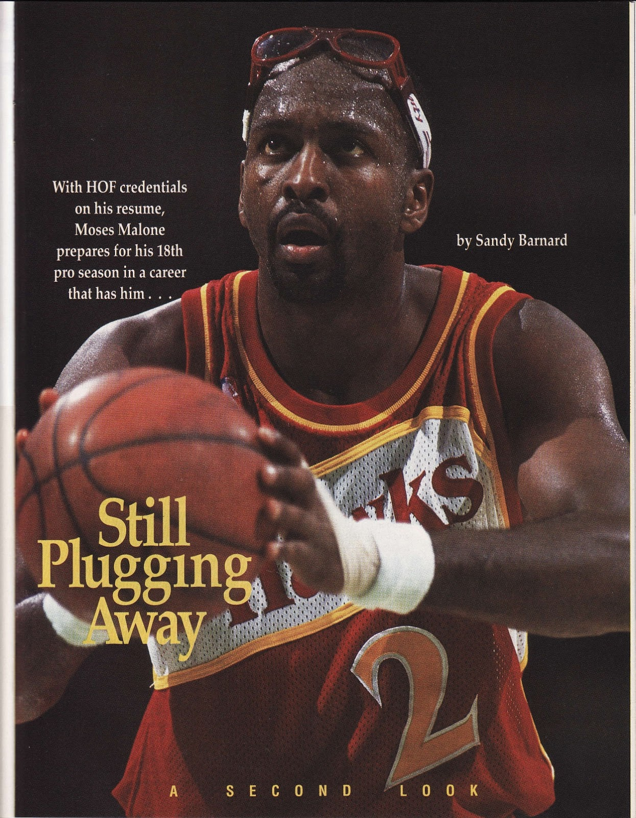 Moses Malone from Beckett Basketball Monthly