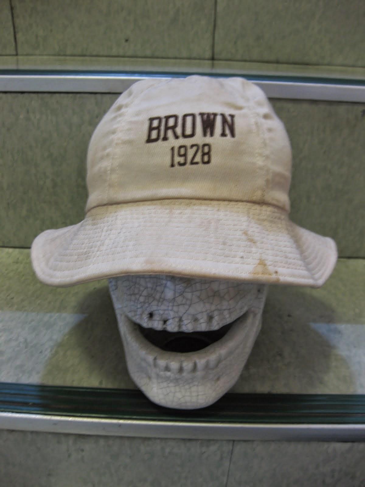 1928                BROWN UNIVERSITY               フロッキーPRINT入り                HAT