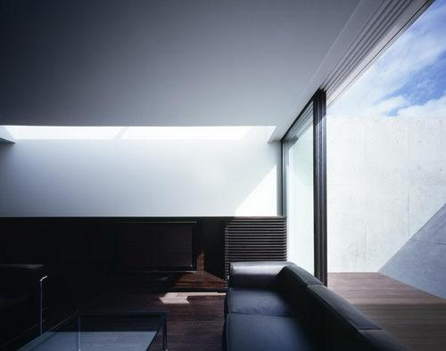 Flow the Unique Shaped House Interior